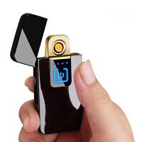 抖音同款指纹感应充电打火机创意防风个性usb电子点烟器潮送男友 -照片定制