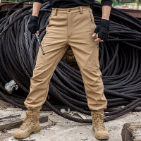 飓风秋冬抓绒软壳裤 男 户外鲨鱼皮抗风防水保暖战术裤