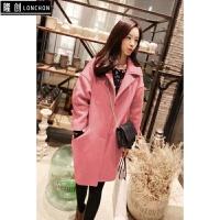 学生毛呢外套女韩版秋冬装新款大码宽松显瘦呢子大衣外衣女装