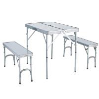 Nevalend 纳瓦兰德 户外野营两长凳铝木台 家具折叠桌椅NC107022 自驾游铝合金折叠桌椅