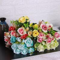 假花仿真绢花艺客厅家居装饰品塑料干花束小盆栽餐桌面花盆景摆件