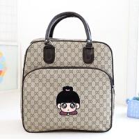 手提包男旅行健身包韩版软妹旅行包女手提短途行李包女手提袋轻便大容量PU可爱旅行袋