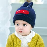 缕巷 MZ40韩版棉线帽 兔子耳朵宝宝棉线帽子 兔八哥帽婴儿童帽子秋冬款