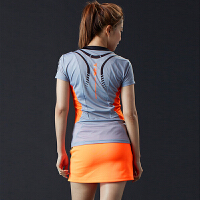 春秋羽毛球服套装女款速干连体裙两件套 男款短袖运动服球衣