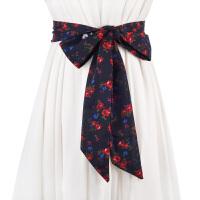 新品百搭女士雪纺飘带 长款甜美打结宽腰带女 配裙子装饰围巾腰封