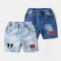 男童短裤韩版宝宝时尚帅气牛仔裤纯棉儿童中裤薄款童装潮