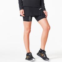 运动裙裤女士越野跑内衬黑色修身户外运动速干健身短裤