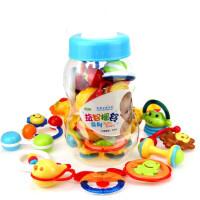 儿童玩具 大号奶瓶装摇铃玩具套装宝宝儿童益智早教礼盒装生日礼物 颜色随机