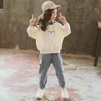 女童套装秋冬装洋气时髦网红儿童两件套潮