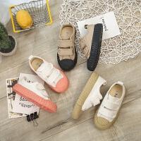 儿童帆布鞋低帮男童女童鞋休闲饼干板鞋宝宝面包鞋