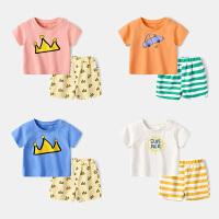 新生儿套装女婴儿短袖t恤夏季初生幼儿短裤男童夏装宝宝两件套
