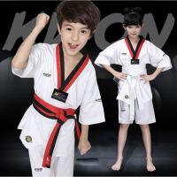 儿童男 女款初学跆拳道服装 跆拳道服大人训练服