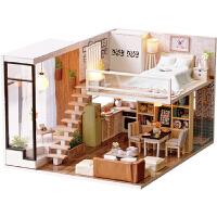 智趣屋diy小屋别墅静待时光手工拼装玩具房子创意生日礼物送女友