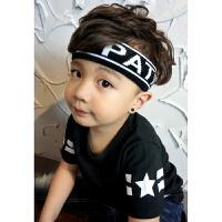 韩版原宿毛线字母发带发箍韩版洗脸头巾头套运动男女 5CMENT大人小孩都适合