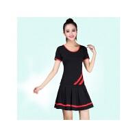 广场舞服装新款套装牛奶丝女春夏小苹果舞蹈演出服
