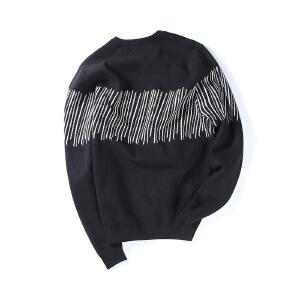 【限时抢购到手价:99元】AMAPO潮牌大码男装胖子加肥加大码休闲加厚宽松套头针织衫毛衣男