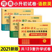 小升初语文数学英语真题卷 2021版河南名校招生分班真题试卷