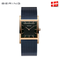 bering正品女表防水钢带石英表时装表 时尚经典方形女士手表