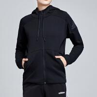 adidas阿迪达斯女服外套夹克2019新款连帽针织运动休闲运动服DT9351