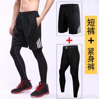 运动短裤男跑步健身速干休闲五分裤女夏季训练宽松大码篮球裤男士 +3333黑色