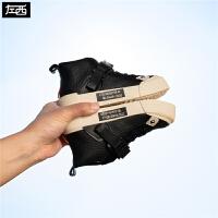 【2件5折到手价:99元】左西男童鞋子春款2020新款儿童休闲鞋高帮皮鞋中大童洋气春秋韩版