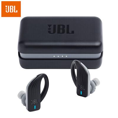 【当当自营】JBL Endurance Peak 黑色 真无线蓝牙耳机 防水防掉落专业运动耳机 IPX7级防水,自带充电盒,持久续航,稳定防掉落