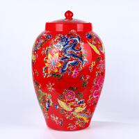 景德镇陶瓷器带盖装储米缸箱桶罐20斤30斤50斤酒坛油水缸买一送五