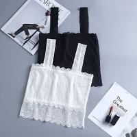 蕾丝吊带抹胸女夏季白色打底上衣内搭美背短款防走光小背心裹胸式 均码 80-135斤