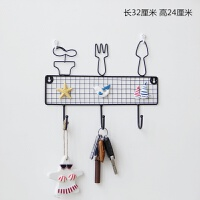 【品牌热卖】创意铁艺装饰挂钩日式家居门口衣帽钥匙小号挂架杂物厨房墙壁挂饰