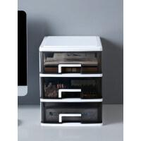办公桌面收纳盒透明小抽屉式收纳柜学生书桌上文具杂物整理储物箱.