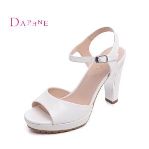 Daphne/达芙妮2016夏季新款高跟粗跟防水台学生女凉鞋1016303179