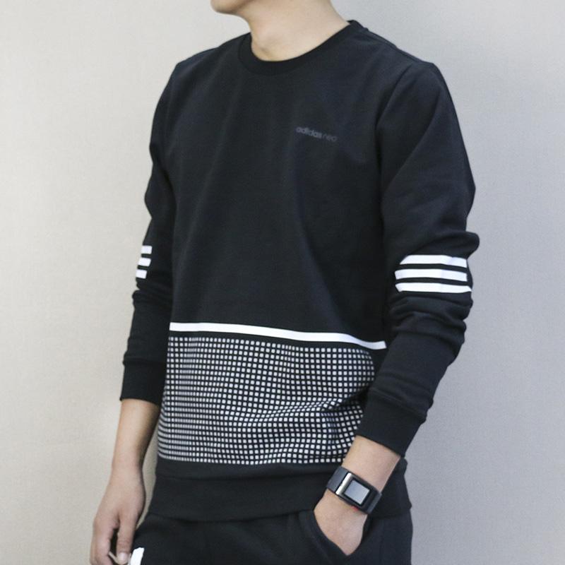 Adidas阿迪达斯 NEO 男子 运动卫衣 圆领休闲套头衫 BR8422