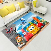 3D印花儿童地毯客厅茶几沙发地毯卧室床边毯厨房门厅防滑地毯地垫