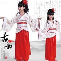 儿童古装汉服古代唐朝贵妃仙女服装古典舞蹈演出服女孩