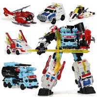 机器人模型 儿童变形玩具守护神 星空救援队金刚5天火