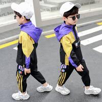 男童装秋装套装儿童加绒帅气男孩运动冬款韩版两件套