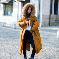实拍秋冬款韩国范大毛领保暖棉衣女工装棉袄外套