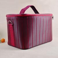示范包产品红色化妆箱斜纹条纹箱大号牛津布箱包示范工具拍拍卫生巾教改双元工具教育 红色条纹