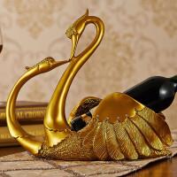 欧式客厅家居饰品 天鹅摆件 结婚礼物 婚房装饰品 奢华工艺品礼品