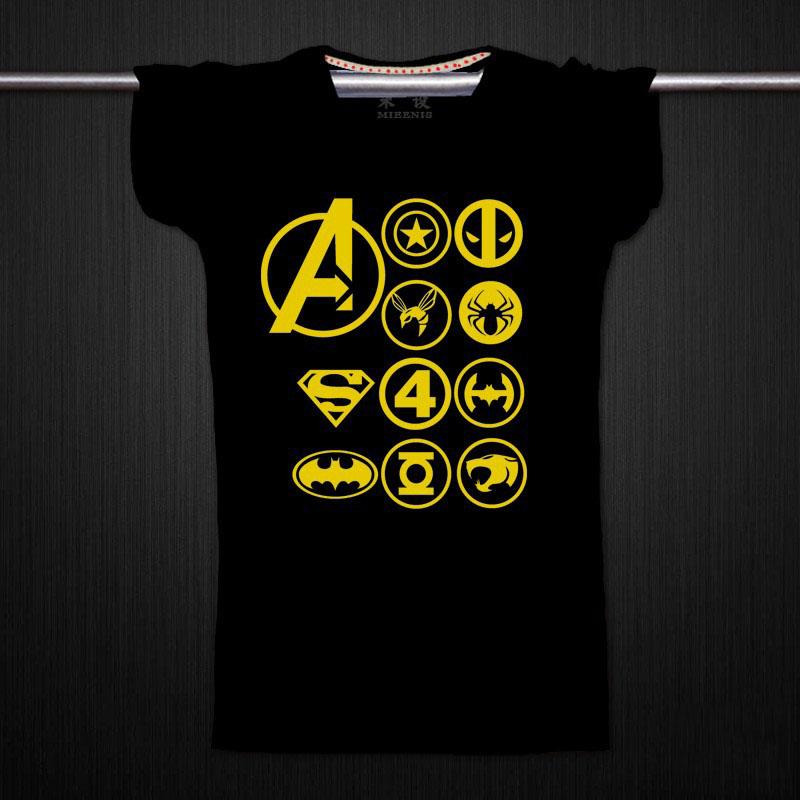 复仇者联盟2 钢铁 蝙蝠侠美国队长兄弟装短袖纯棉t恤 黑色 发货周期:一般在付款后2-90天左右发货,具体发货时间请以与客服协商的时间为准