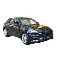 保时捷Macan合金车模1:24原厂仿真汽车模型摆件SUV越野车模 比美高 亮黑 保时捷Macan