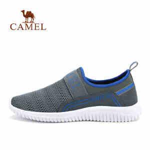 camel骆驼户外休闲鞋 网布回弹减震套脚男士透气春夏网鞋