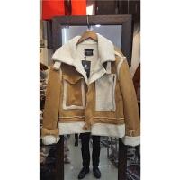 F5冬羊羔毛麂皮绒外套女短款韩版小棉袄皮毛一体加厚棉衣