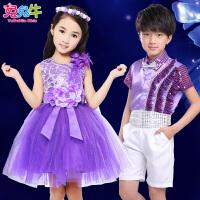 六一儿童演出服蓬蓬裙小学生合唱服表演服大合唱服儿童大合唱服装