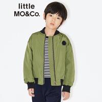 littlemoco儿童外套秋款胶印图案魔术贴章仔短款夹克男女童