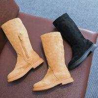 女童靴子长筒靴秋季小女孩黑色高筒靴儿童公主长靴中大童