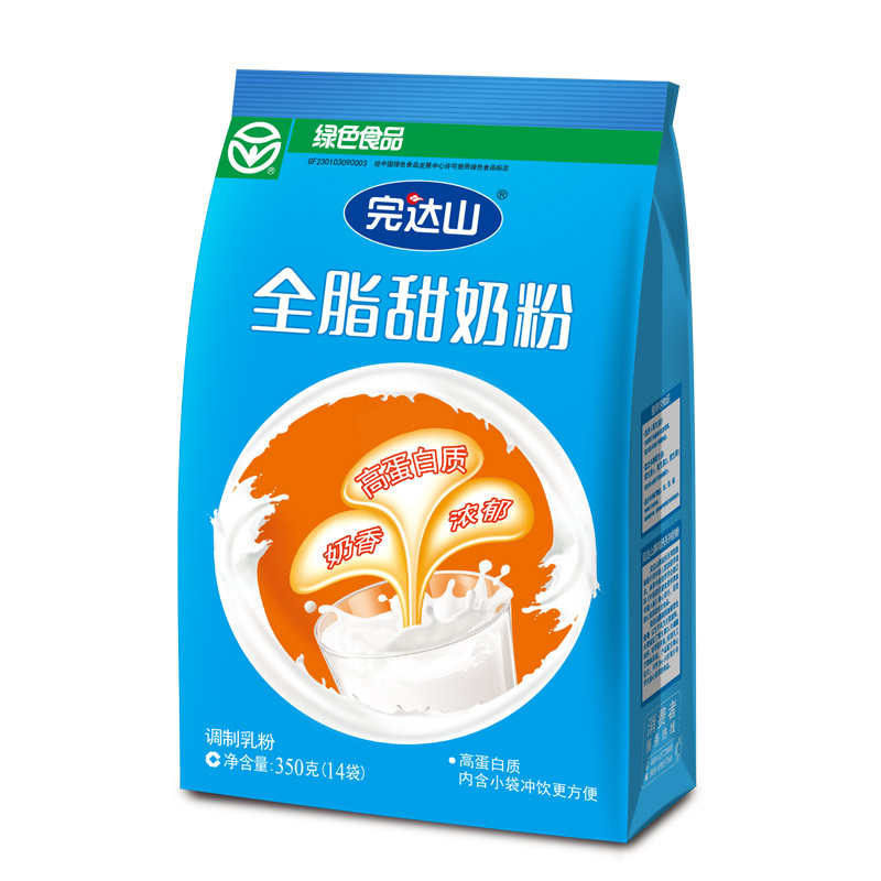 完达山全脂甜奶粉350G成人奶粉完达山官方旗舰店,满150元包邮。