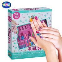 女孩美甲玩具套装美国儿童diy指甲油指甲贴