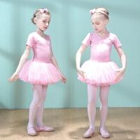 儿童舞蹈服装练功服女童短袖芭蕾舞裙女孩中国舞蹈服幼儿跳舞夏季