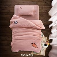 棉水洗棉婴儿床宝宝被芯三件套床上用品幼儿园男女三件套春秋夏 其它